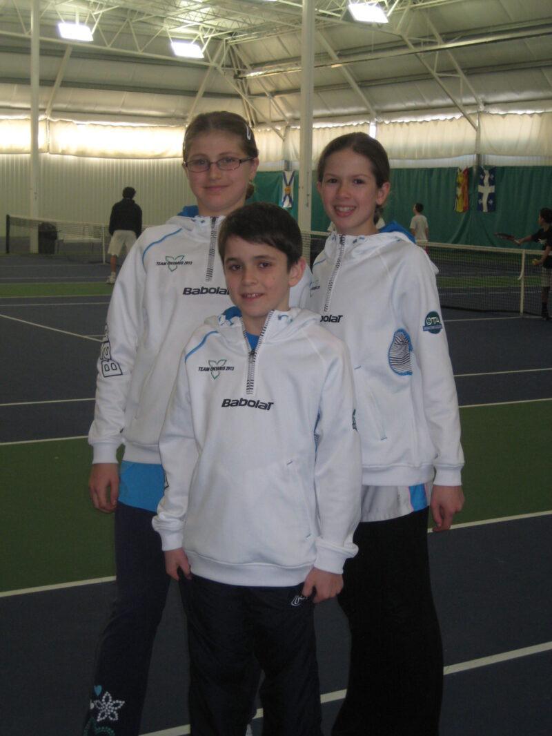 ALEKSANDRA ARKHIPOVA, ARIANA ARSENEAULT,DAVID GAUBERG Valan Trio At National Championship In Calgary 2013