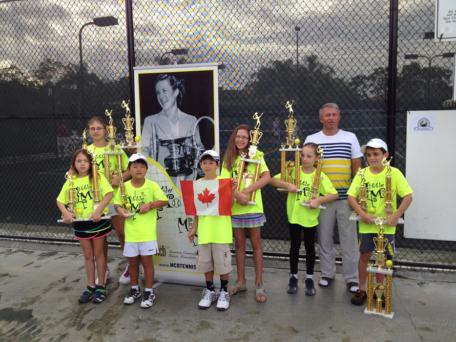 happy tennis kids